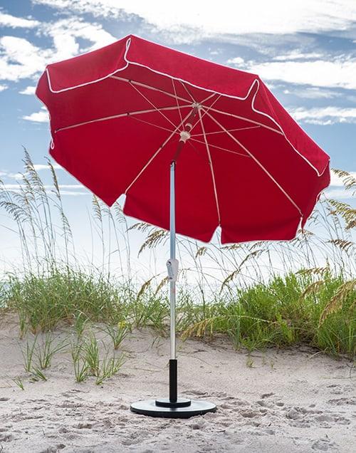 classic red garden umbrella